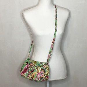 Vera Bradley Small Green Paisley Crossbody Bag